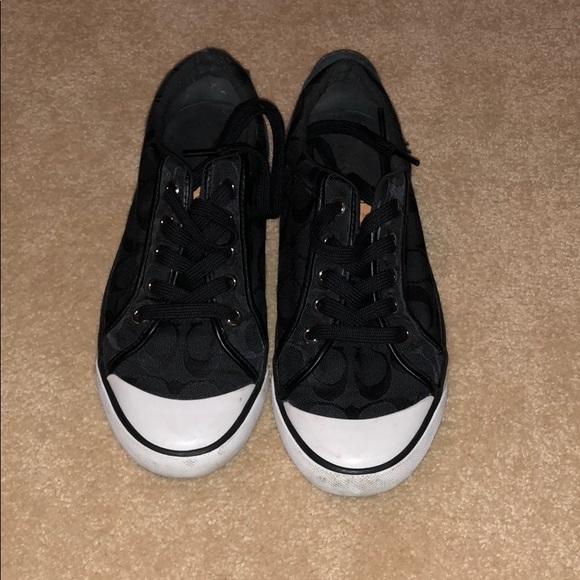 Shoes | Coach Black Tennis Shoes | Poshmark